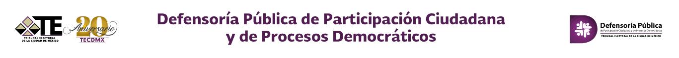 Defensoría Pública de Participación Ciudadana y de Procesos Democráticos